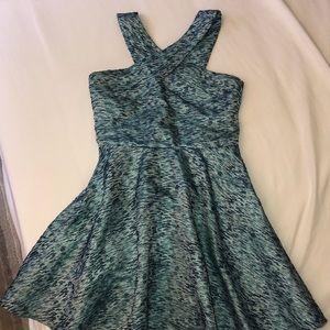 Miss Behave Blue Criss Cross Dress